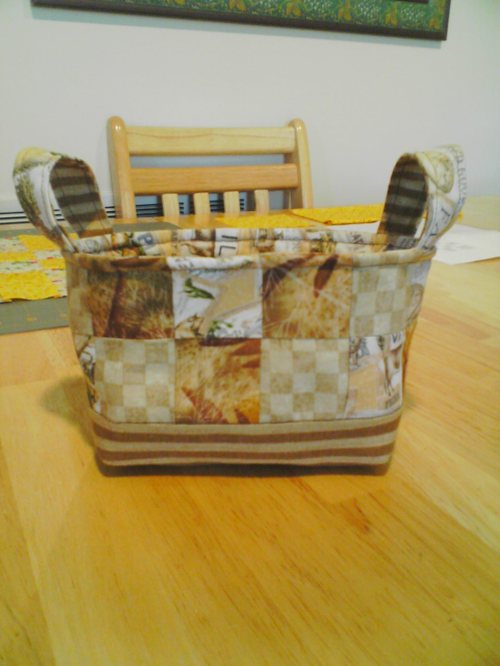 front view of fabric basket***
