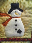 Close-up of snowman- Snowman wallhanging